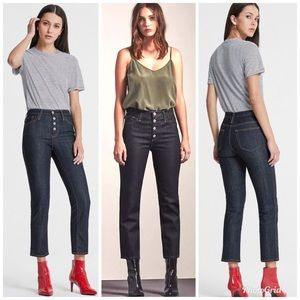 AG The Isabelle Button Up High Rise Straight Crop
